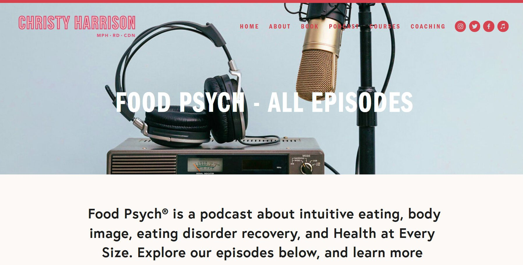 Podcast Food Psych par Christy Harrison | Nutritionniste alimentation intuitive